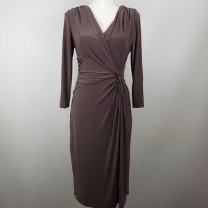 Ralph Lauren faux wrap sheath dress sz 6 career
